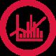 Werbeartikel-Zielgruppen-Analyse-Icon: Balken-Chart